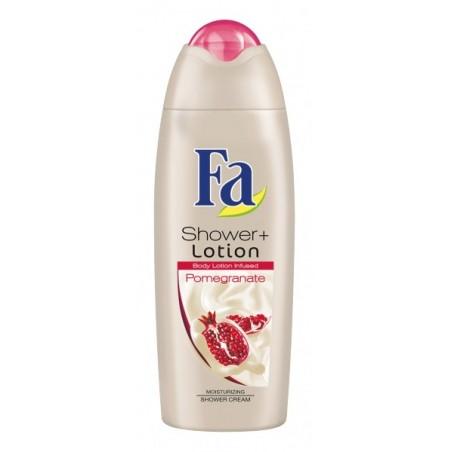 Fa Shower+ Lotion Pomegranate Shower Cream 250 ml / 8.3 fl oz