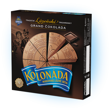 Opavia Tradicni lazenske trojhranky Kolonada / Original Czech Spa Triangles Grand Chocolate 200g