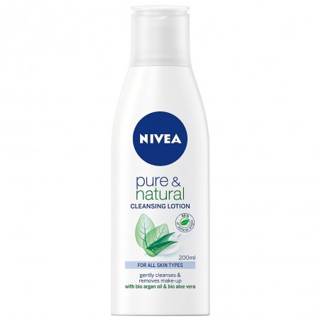 Nivea Pure & Natural Cleansing Milk for All Skin Types 200 ml / 6.8 fl oz