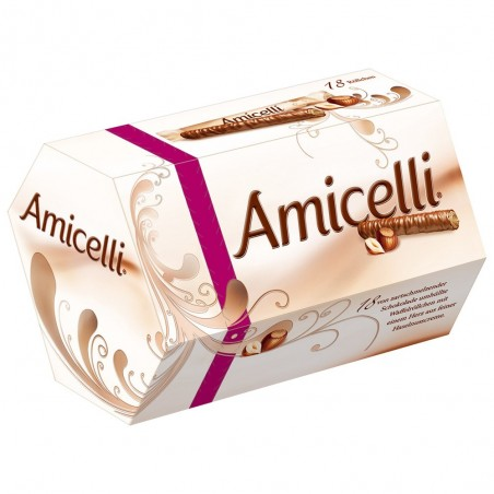 Amicelli - Hazelnut Cream filled Wafer Rolls 225 g