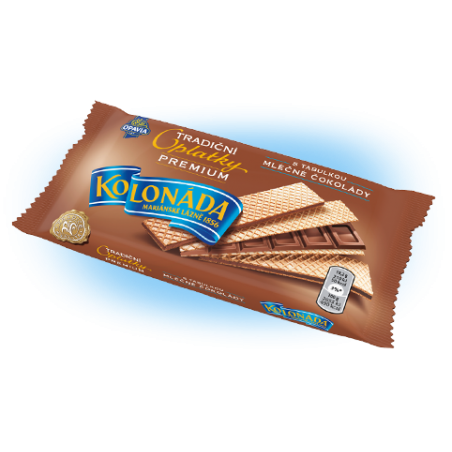 Opavia Tradicni oplatky Premium / Traditional Wafers Premium Kolonada with Chocolate Bar Filling 92 g
