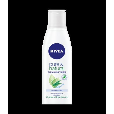 Nivea Pure & Natural Cleansing Toner for All Skin Types 200 ml / 6.8 fl oz
