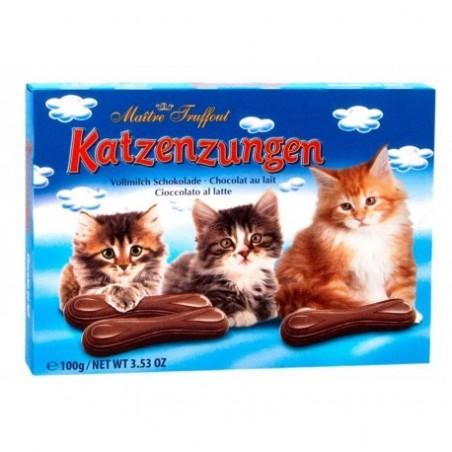 Maitre Truffout Katzenzungen Milk Chocolate Cat Tongues 100g / 3.5 Ounce