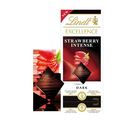 Lindt Excellence Strawberry Intense Dark Chocolate 100 g / 3.4 oz
