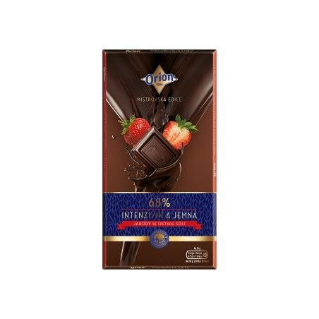 Orion Master Edition Dark Chocolate 68% Strawberry with Salt 100 g / 3.4 oz
