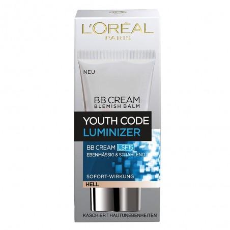 L'Oreal Youth Code Luminizer BB Cream SPF 15 Light 50 ml / 1.6 fl oz