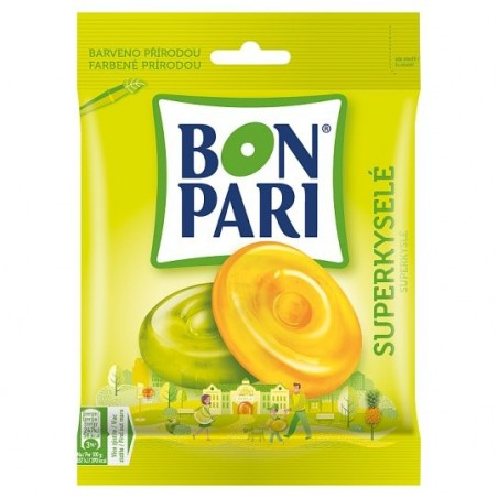 Nestle Bon Pari Super Sour Hard Fruit Candy 90 g / 3.0 oz