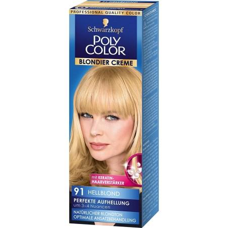 Schwarzkopf Poly Color Cream Hair Color 91 Light Blonde