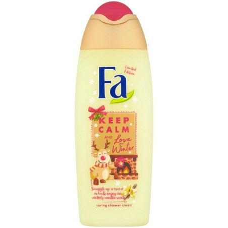 Fa Keep Calm and Love Winter Vanilla Shower Cream 250 ml / 8.4 oz