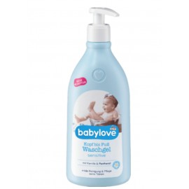 babylove Head to Toe Wash Gel Sensitive 500 ml / 16.7 fl oz