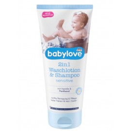 babylove 2in1 Wash Lotion & Shampoo 200 ml / 6.8 fl oz