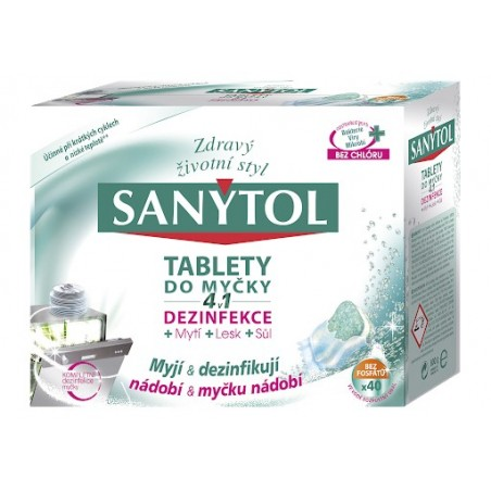 Sanytol Disinfectant Cleaning Tablets for Dishwasher 4in1 40pcs