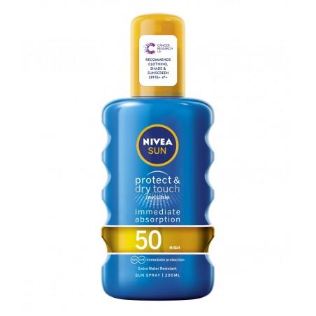 Nivea Sun Protect & Dry Touch Invisible Sun Spray SPF 50 200 ml / 6.8 fl oz