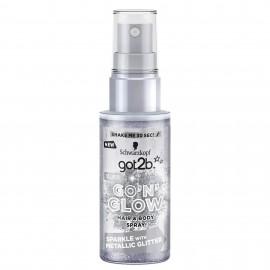 Schwarzkopf got2b Go'N'Glow Silver Hair & Body Spray 50 ml / 1.7 fl oz