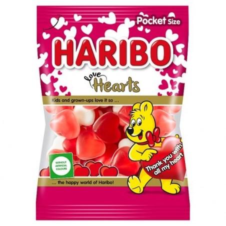 Haribo Love Hearts 100 g / 3.4 oz