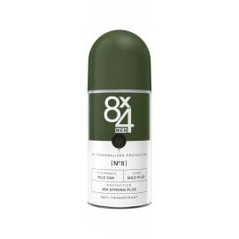 8x4 Men No.8 Wild Oak Anti-Perspirant Roll-On 50 ml / 1.7 fl oz