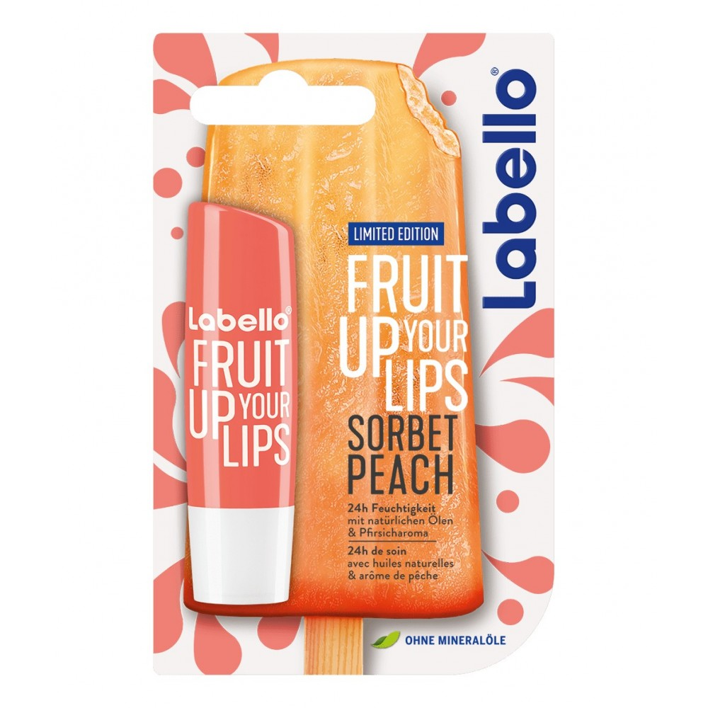 Labello Fruit Up Your Lips Sorbet Peach Lip Balm 4,8 g