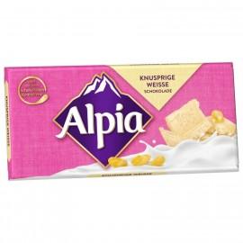 Alpia crispy white chocolate 100g