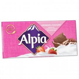 Alpia chocolate strawberry yogurt 100g
