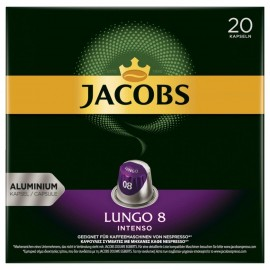 Jacobs coffee capsules Lungo 8 Intenso, 20 Nespresso compatible capsules