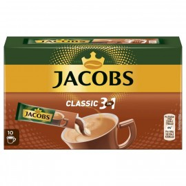 Jacobs coffee specialties 3 in 1, 10 sticks with instant coffee