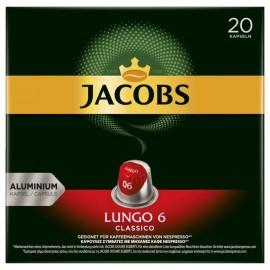 Jacobs coffee capsules Lungo 6 Classico, 20 Nespresso compatible capsules
