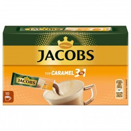 Jacobs coffee specialties 3 in 1 caramel, 10 sticks