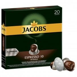 Jacobs coffee capsules Espresso 10 Intenso, 20 Nespresso compatible capsules