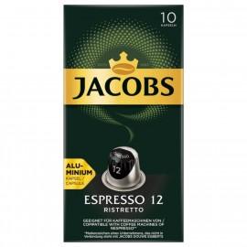 Jacobs coffee capsules Espresso 12 Ristretto 52g, 10 Nespresso compatible capsules