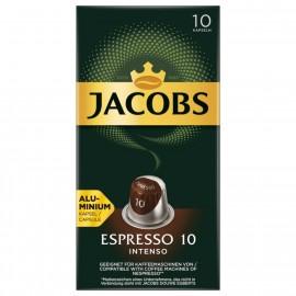Jacobs coffee capsules Espresso 10 Intenso, 10 Nespresso compatible capsules