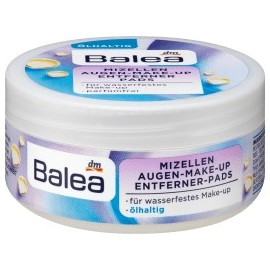 Balea Eye make-up remover pads micelles containing oil, 50 pcs