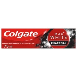 Colgate Toothpaste max white with activated charcoal, 75 ml