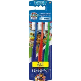 Dr. Best Toothbrush children Paw Patrol milk tooth, up to 7 years, 3 pcs