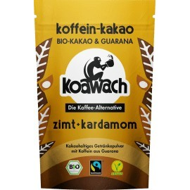 koawach Cocoa powder, cocoa & guarana with cinnamon & cardamom, 100 g