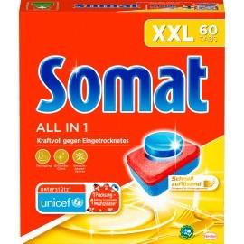 Somat Dishwasher tabs All in 1 XXL, 60 pcs