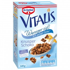 Dr. Oetker Vitalis Crunchy Chocolate less sweet 500g
