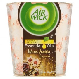 Air Wick Scented Candle Essential Oils - Warm Vanilla - 105g