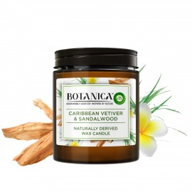 BOTANICA by AIR WICK Caribbean Vetiver & Sandalwood Naturally Derived Wax Candle, 205g