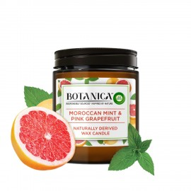BOTANICA by AIR WICK Moroccan Mint and Pink Grapefruit Naturally Derived Wax Candle, 205g