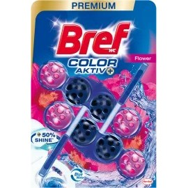 Bref WC block Color Aktiv Flowers, 100 g