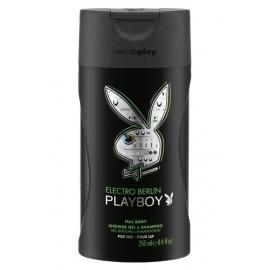 Playboy Electro Berlin Shower Gel & Shampoo 250 ml / 8.4 fl oz