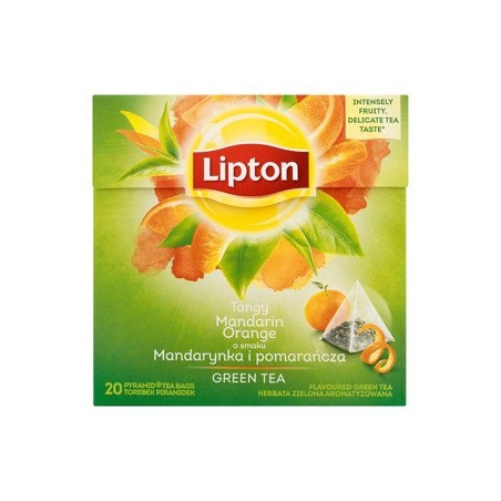 Lipton Green Tea Pyramids, Mandarin Orange 20 ct