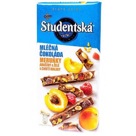 Orion Studentska Milk Chocolate Apricot 170 g / 5.7 oz