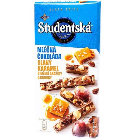 Orion Studentska Milk Chocolate Salted Caramel 170 g / 5.7 oz