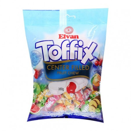 Elvan Toffix Assorted Fruity Filled Chew 350 g