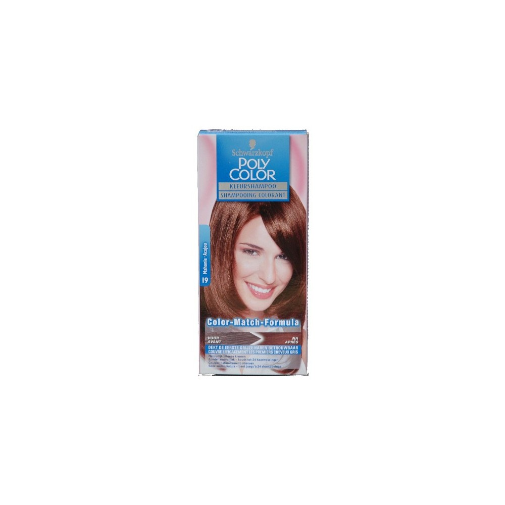 Schwarzkopf Poly Color Shampooing Colorant 19 Mahagony 90 ml / 3 fl oz