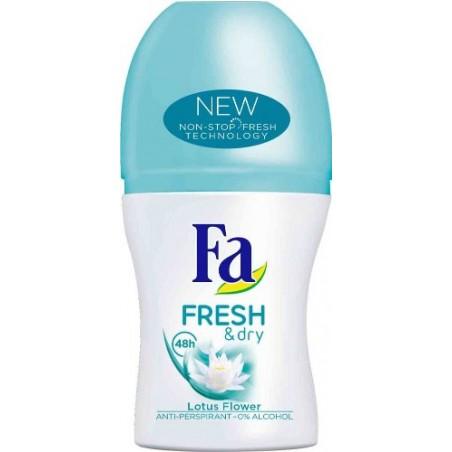 Fa Fresh & Dry Lotus Flower 48h Roll-On Deodorant Anti-Perspirant 50 ml / 1.7 oz