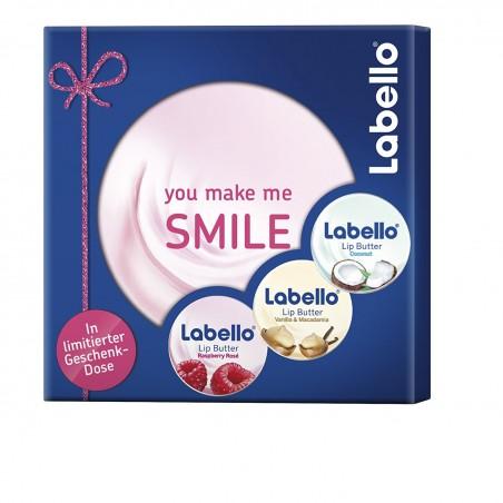 Labello Gift Set of 3 Lip Butters (Coconut, Raspberry Rose, Vanilla Macadamia)