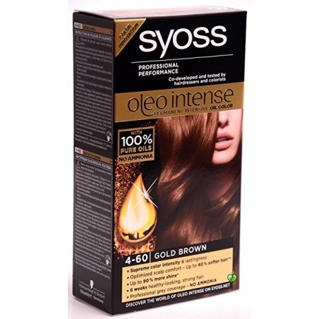 Syoss Oleo Intense Permanent Oil Color (4-60 Gold Brown)