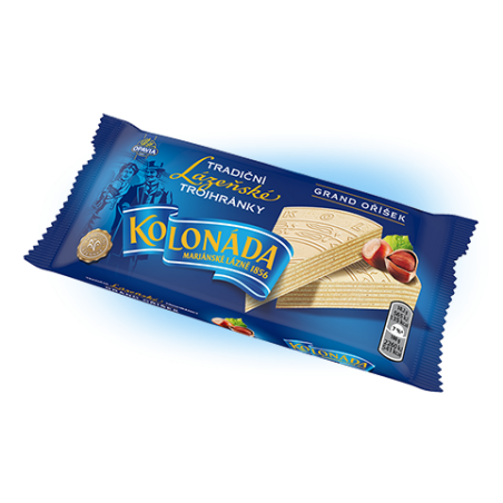 Opavia Tradicni oplatky / Traditional Wafers Kolonada with Nut and Chocolate Filling 140 g